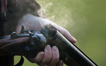 Abgefeuerte Jagdwaffe